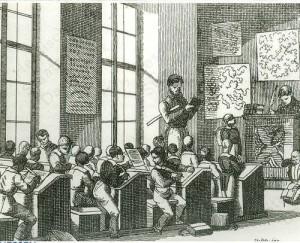 Klassenzimmer_einer_Knabenschule_1825